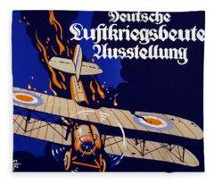 Poster Advertising The German Air War Fleece Blanket