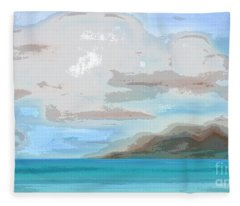 Posterized Landscape Alaska  Fleece Blanket