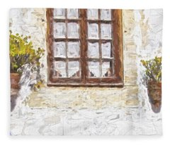 Potted Plants Fleece Blanket
