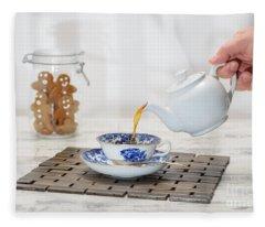 Pouring A Cup Of Tea Fleece Blanket
