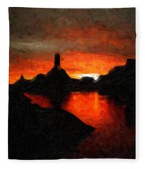 Powell Sunset Fleece Blanket