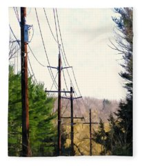 Power Lines Fleece Blanket
