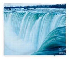 Power Of Niagara Falls Fleece Blanket