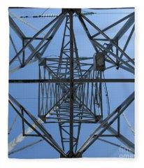 Power Tower. Square Format. Fleece Blanket