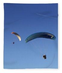 Powered Parachute Fleece Blanket