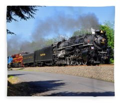 Powerful Nickel Plate Berkshire Fleece Blanket