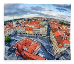 Prague From Above Fleece Blanket