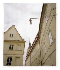 Prague's Hanging Man Fleece Blanket