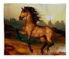 Prairie Dancer Fleece Blanket