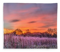 Moraine Hills State Park Moments Before Sunrise Fleece Blanket