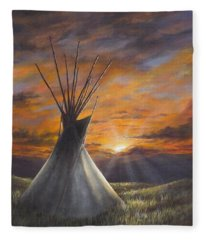Prairie Sunset Fleece Blanket
