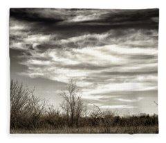 Prairie Winter Sky Fleece Blanket