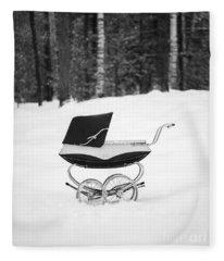 Pram In The Snow Fleece Blanket