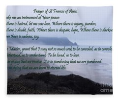 Prayer Of St Francis Of Assisi Fleece Blanket