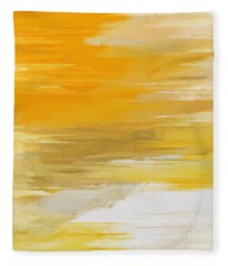 Precious Metals Abstract Fleece Blanket