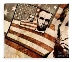 President Abraham Lincoln Fleece Blanket