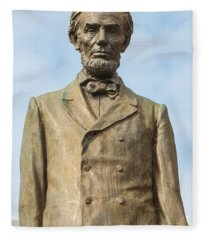 President Lincoln Statue Fleece Blanket