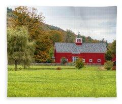 Prettiest Barn In Vermont Fleece Blanket