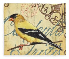 Yellow Bird Fleece Blankets