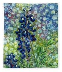 Pretty In Blue Fleece Blanket
