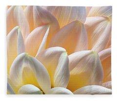 Pretty Pastel Petal Patterns Fleece Blanket