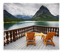 Priceless Glacier View Fleece Blanket