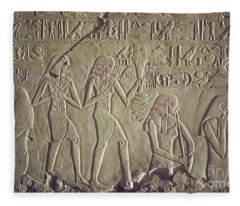 Private Tomb Of Kheruef Kheruf Cheriuf Tt 192 Asasif-stock Image-fine Art Print-valley Of The Kings Fleece Blanket