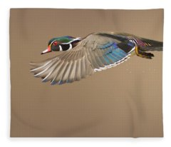 Probably The Most Beautiful Of All Duck Species Fleece Blanket