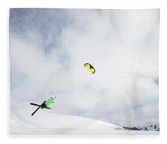 Professional Snowkiter Tyler Brown Fleece Blanket