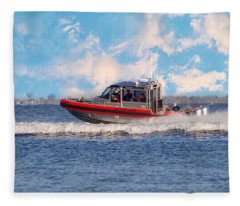 Protecting Our Waters - Coast Guard Fleece Blanket