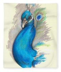 Proud Peacock Fleece Blanket