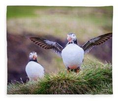 Proud Puffin Fleece Blanket