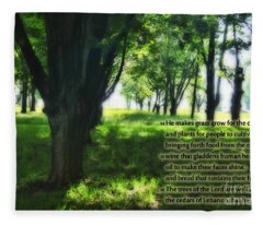 Psalm 104 Fleece Blanket