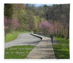 Psalm 119 Direct Me In The Path Fleece Blanket