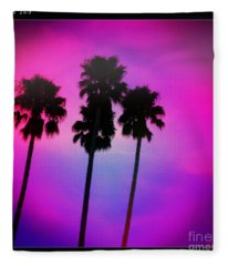 Psychedelic Palms Fleece Blanket