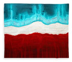 Pueblo Cemetery Original Painting Fleece Blanket