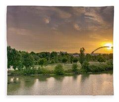 Puente De Lusitania Fleece Blanket