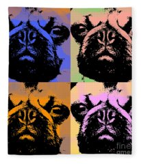 Pug Pop Art Fleece Blanket