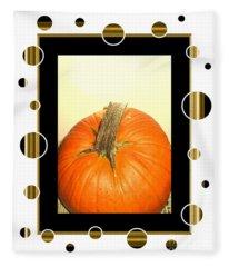 Pumpkin Card Fleece Blanket
