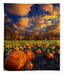 Pumpkin Crossing Fleece Blanket