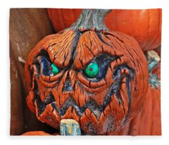 Pumpkin Face Fleece Blanket