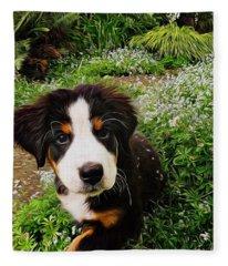 Puppy Art - Little Lily Fleece Blanket