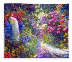 White Peacocks, Pure Bliss Fleece Blanket