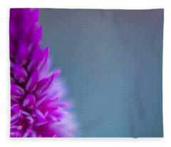 Purple Blur Fleece Blanket