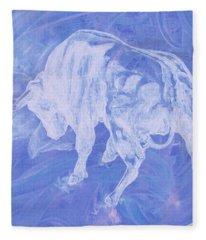 Purple Bull Negative Fleece Blanket