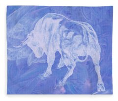 Purple Bull Negative Fleece Blanket