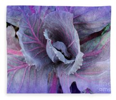 Purple Cabbage - Vegetable - Garden Fleece Blanket