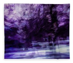 Purple Fire Fleece Blanket