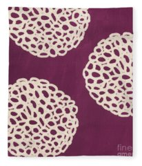 Purple Garden Bloom Fleece Blanket