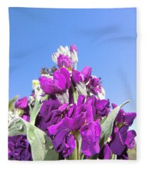 Purple Glow 2 Fleece Blanket